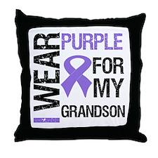 IWearPurple Grandson Throw Pillow