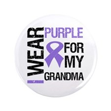 "IWearPurple Grandma 3.5"" Button"