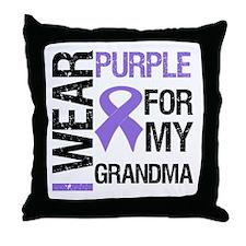 IWearPurple Grandma Throw Pillow