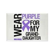 IWearPurple Granddaughter Rectangle Magnet