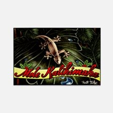 """Thirsty Hawaiian Gecko"" Rectangle Magne"