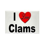 I Love Clams Rectangle Magnet (10 pack)