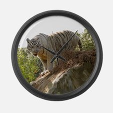 Funny Cats father Large Wall Clock
