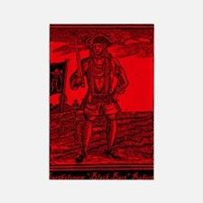 Black Bart Roberts Pirate Rectangle Magnet