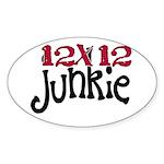 12x12 Junkie Oval Sticker