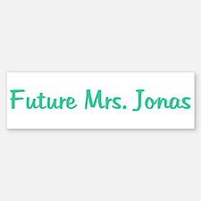 Future Mrs. Jonas Bumper Bumper Bumper Sticker