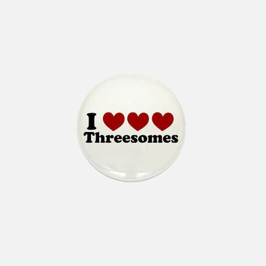 Heart Heart Heart 3somes Mini Button