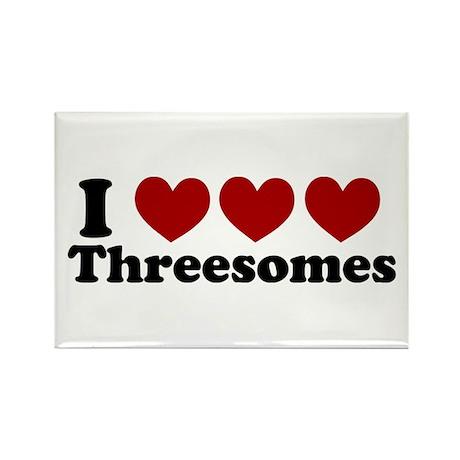 Heart Heart Heart 3somes Rectangle Magnet