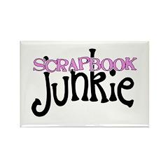 Scrapbook Junkie Rectangle Magnet (10 pack)