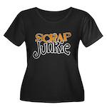 Scrap Junkie Women's Plus Size Scoop Neck Dark T-S