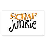 Scrap Junkie Rectangle Sticker
