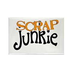 Scrap Junkie Rectangle Magnet (100 pack)