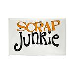 Scrap Junkie Rectangle Magnet
