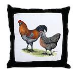 Ameraucana Fowl Throw Pillow