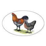 Ameraucana Fowl Oval Sticker (10 pk)