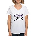Stamp Junkie Women's V-Neck T-Shirt