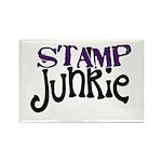 Stamp Junkie Rectangle Magnet