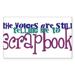 The Voices STILL Rectangle Sticker 50 pk)