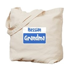 Hessian grandma Tote Bag