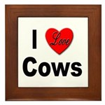 I Love Cows Framed Tile