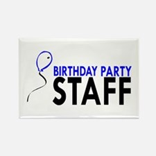 Birthday Party Staff Rectangle Magnet (10 pack)