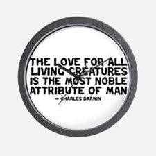 Quote Darwin - The Love Wall Clock