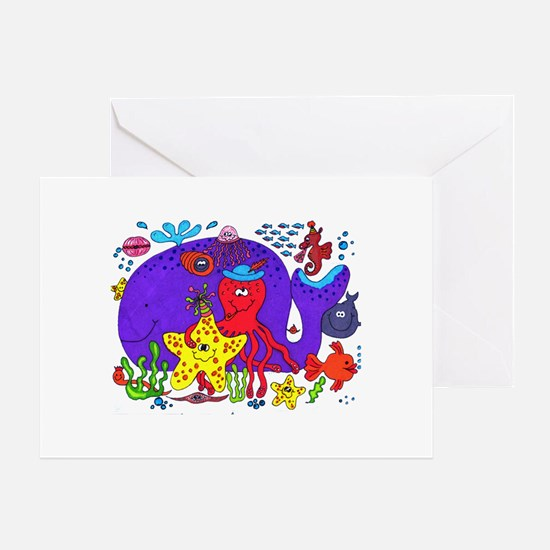 undersea party birthday Greeting Card