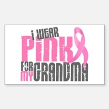 I Wear Pink For My Grandma 6.2 Rectangle Decal