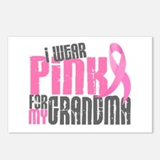 I Wear Pink For My Grandma 6.2 Postcards (Package