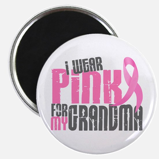 "I Wear Pink For My Grandma 6.2 2.25"" Magnet (10 pa"