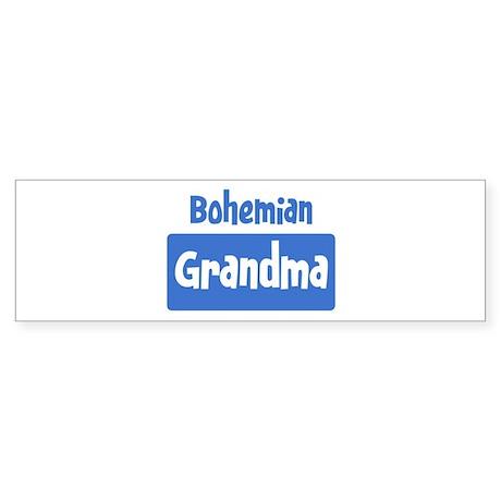 Bohemian grandma Bumper Sticker