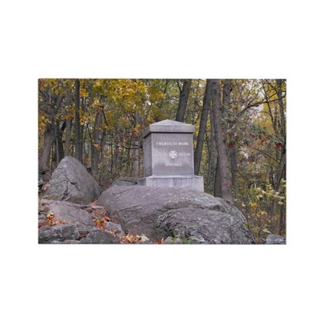 20th Maine Monument Rectangle Magnet