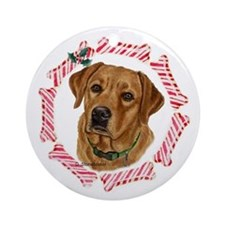 Fox Red Labrador Christmas Ornament (Round)