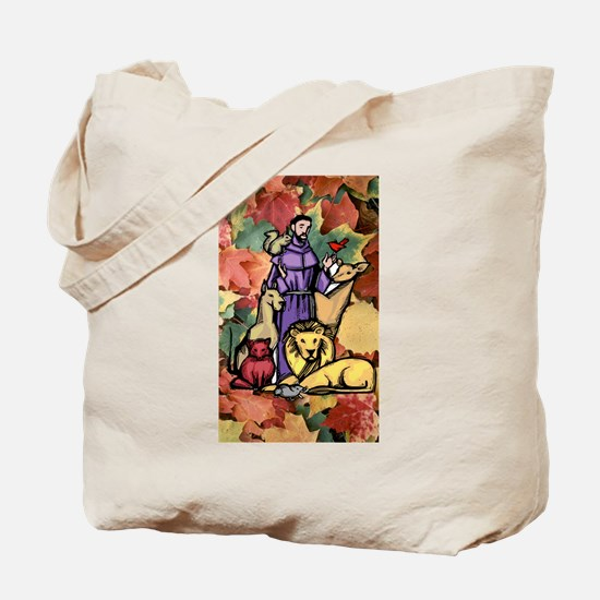 Saint Francis Leaves Tote Bag