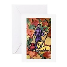 Saint Francis Leaves Greeting Cards (Pk of 10)