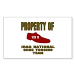 Iraqi Shoe Tossing Rectangle Sticker 50 pk)