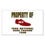 Iraqi Shoe Tossing Rectangle Sticker
