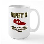 Iraqi Shoe Tossing Large Mug