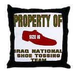 Iraqi Shoe Tossing Throw Pillow