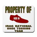 Iraqi Shoe Tossing Mousepad
