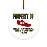Iraqi Shoe Tossing Ornament (Round)