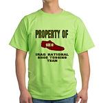 Iraqi Shoe Tossing Green T-Shirt