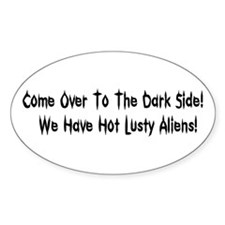 Hot Lusty Aliens Oval Decal