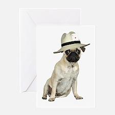 Poker Pug Greeting Card