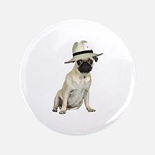 "Poker Pug 3.5"" Button"
