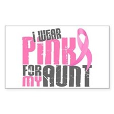 I Wear Pink For My Aunt 6.2 Rectangle Decal