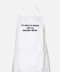 Be with my Llewellin Setter BBQ Apron