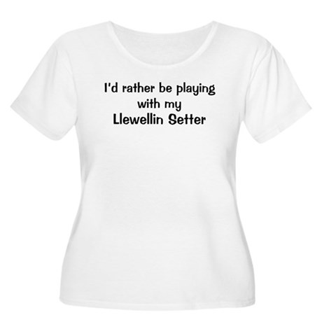 Be with my Llewellin Setter Women's Plus Size Scoo