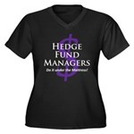 The Hedge Hog's Women's Plus Size V-Neck Dark T-Sh