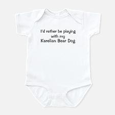 Be with my Karelian Bear Dog Infant Bodysuit